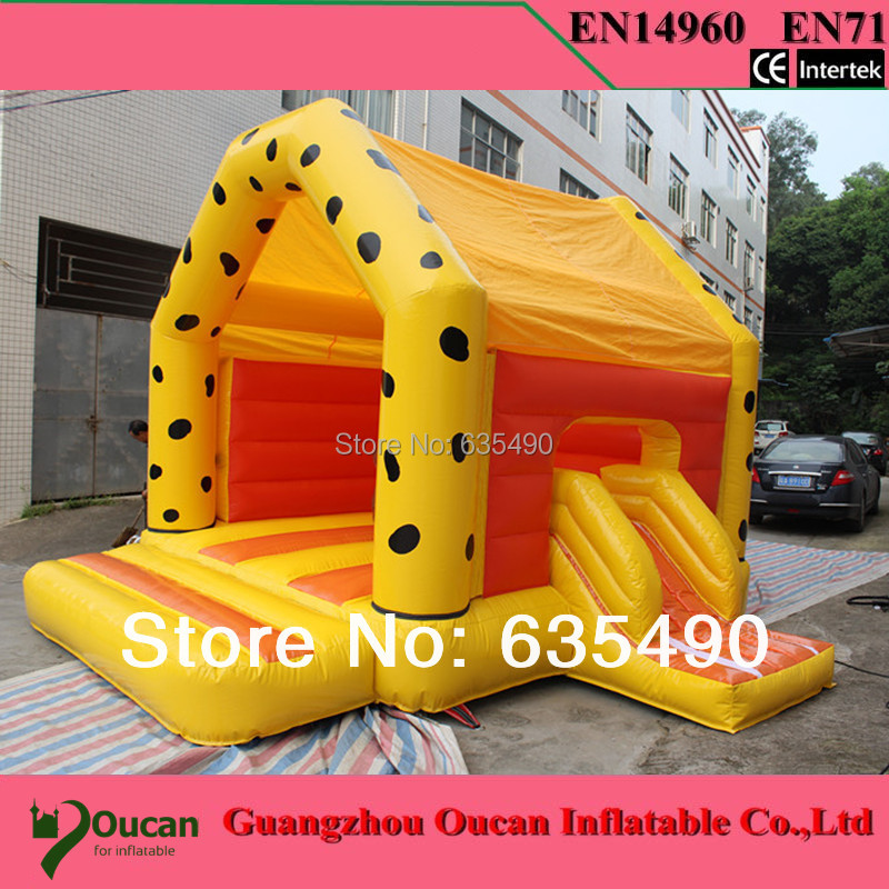 2016new commodity free shipping PVC5x4X3 5M tarpaulin inflatable font b bouncers b font with slide for