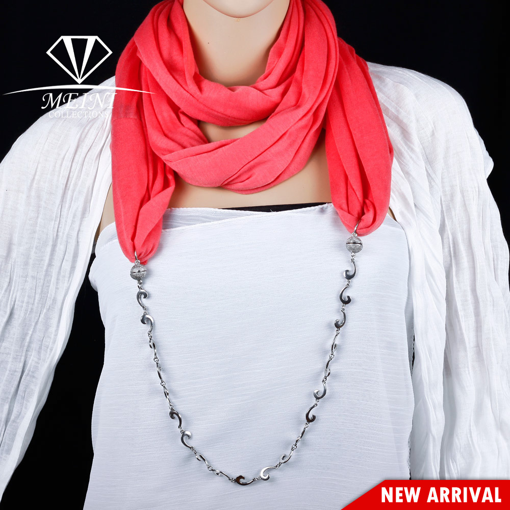 2013 New Arrival Magnetic Magnet clasp jewlry scarf necklace for women Wholwsale Free Shipping