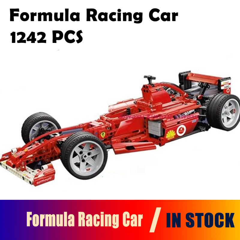 IN Stock Decool Formula Racing Car 1:8 Model 3335 Building Blocks Sets 1242pcs Educational DIY Bricks Toys Clone 8674 in stock dhl decool 3333 building blocks toy 1 10 car model supercar red assemblage racing brain game gift clone 8145