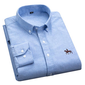 Muful&Vamdy 100% Cotton Collar Dress Shirts Long Sleeve Men