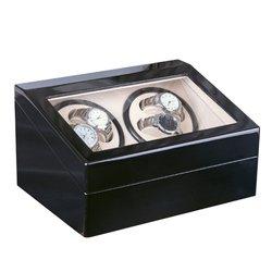 Роскошные 4 + 6 автоматические механические черные часы коробка высокого класса двигатель шейкер часы намотки ювелирных изделий держатель д...