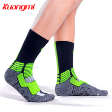 Kuangmi 1 Pair Combed cotton Basketball socks Comfortable and breathable Sport cycling