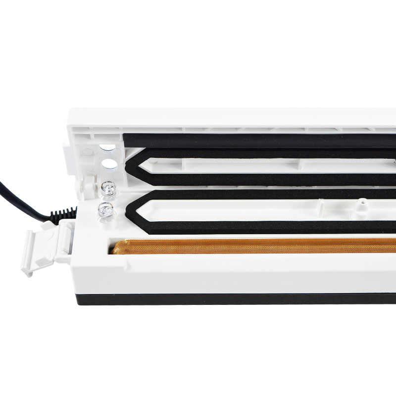 Cibo Vacuum Sealer Macchina A Casa Cibo Sealer Saver Cucina Macchina Sottovuoto Pellicola All'aria Contanier Compreso 15 pz Spedizione Borse