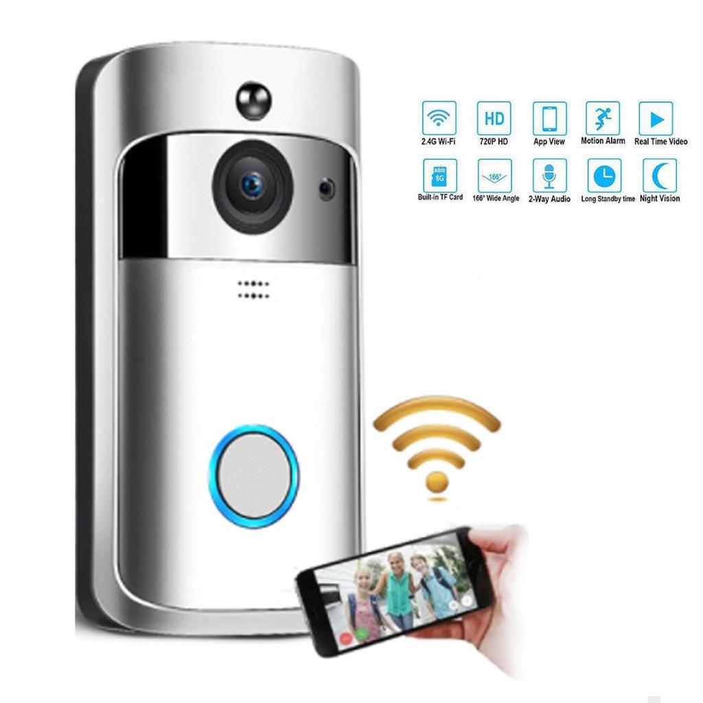 Sonnette sans fil appel téléphone intelligent porte cloche WIFI sonnette pour appartements étanche US EU prise batterie puissance porte cloche sans fil