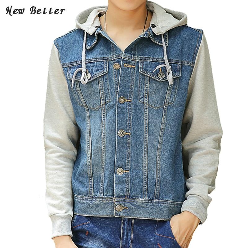 Patchwork Jacheta Stil Casual Denim Jacket Bărbați Coat Moda Veste - Imbracaminte barbati