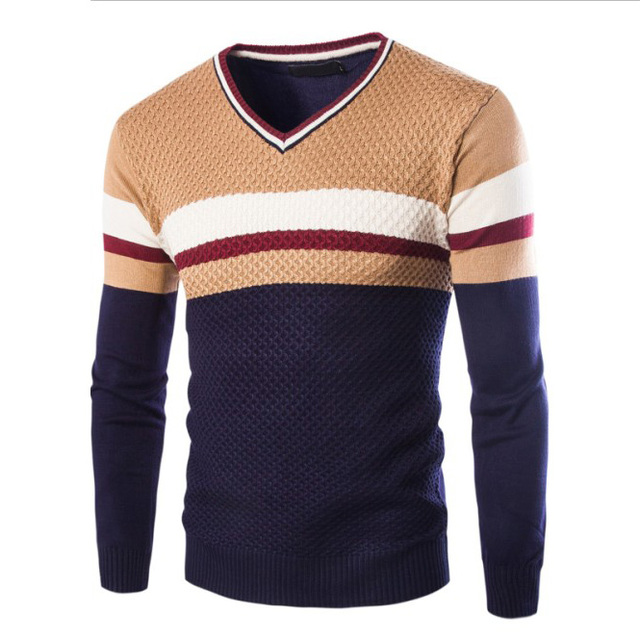 New spring Autumn Men's sweaters V neck sweater men hedging casual pullover sweaters Male Slim bottom Clothing Knitwear Outwear