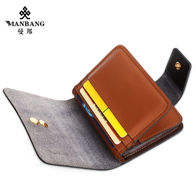 Manbang 2017 New Business card holder Luxury  cowskin card case id card holder passport case MBK9079
