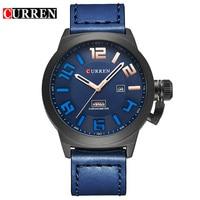 Curren 8270 Leather Mens Watches 2018 Malitary Sport Watch Men Top Brand Luxury Relogio Masculino Quartz