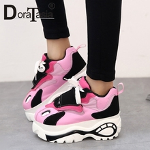 DORATASIA 2019 New INS Hot Girl Fashion Thick Platform Dad Shoes Ladies Sneakers Women High Woman