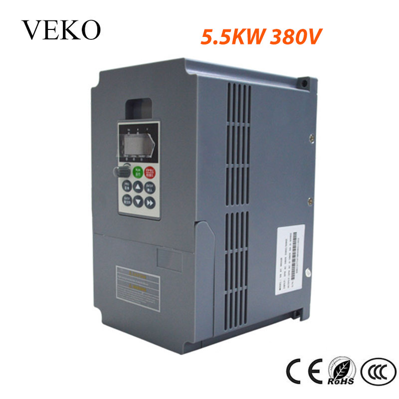 5 5KW 380V AC 3Phase Input VFD Frequency Inverter 3 Phase Triphase Output Motor Speed Control
