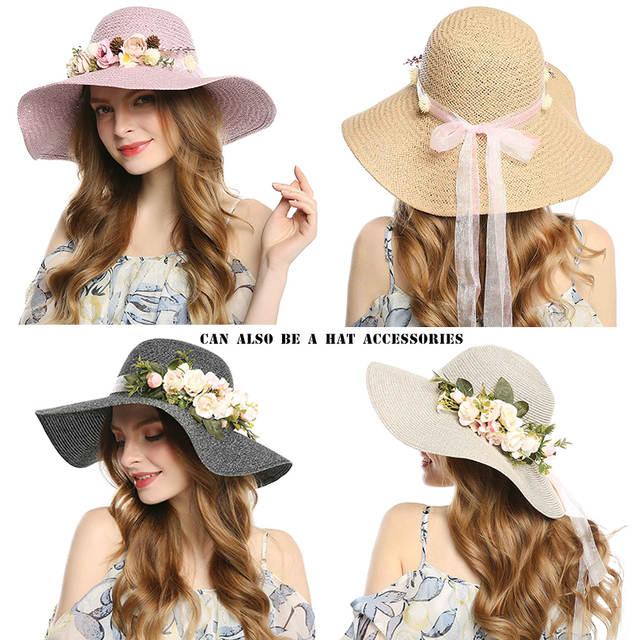 3cd970c0ec2 AWAYTR Bride Bohemian Flower Headband Party Floral Crown Headwear for Women  Floral Garlands Adjustable Wedding Hair