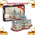 Новогодний подарок англия святого павла церковь 3D головоломки постройки бумажной доски модель поделки коллекция