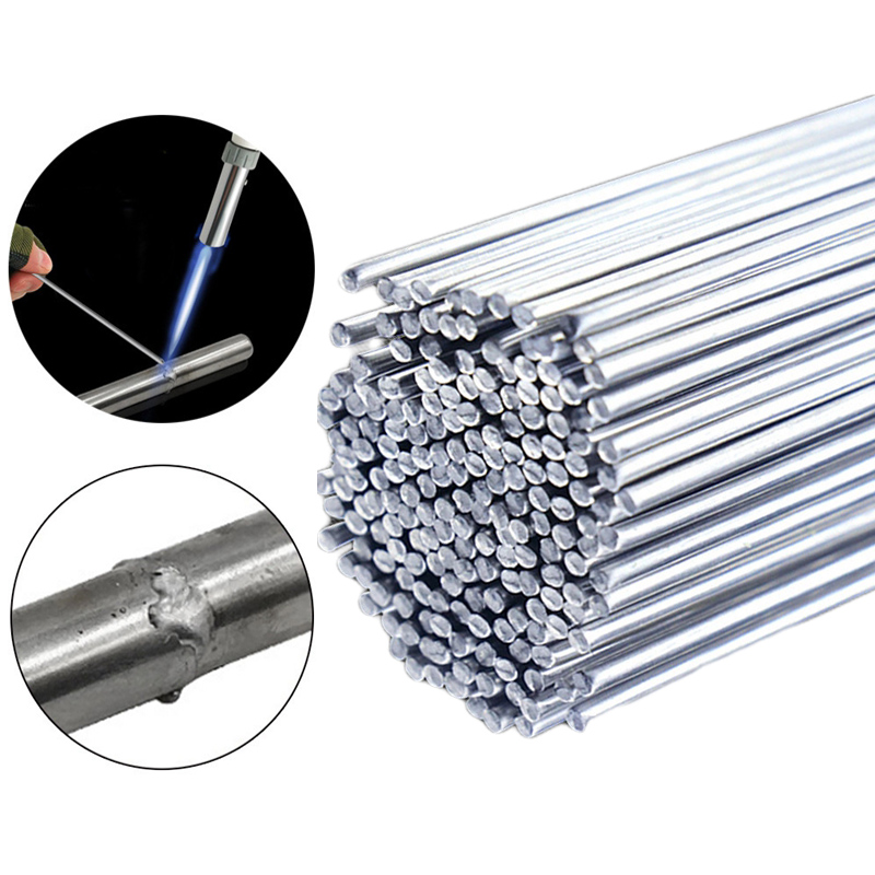 Low Temperature Easy Melt Aluminum Welding <font><b>Rods</b></font> Weld Bars Cored Wire <font><b>2mm</b></font> <font><b>Rod</b></font> Solder for Soldering Aluminum No Need Solder Powder image