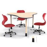 2018 модные стол и стул набор подъема обучения стол для детей студентов три листа стол детский сад раннего образования центр