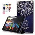 Магнитный Стенд кожа pu Case для Lenovo tab 3 8.0 Модель TB3-850F/850 M 2016 tablet крышка случая + Защитная Пленка для Экрана