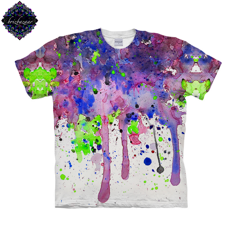 CoolWatercolor By Brizbazaar Art Unisex T shirt 3D Print Tees Tops Harajuku Mens Camiseta Short Sleeve Streetwear t shirt Male