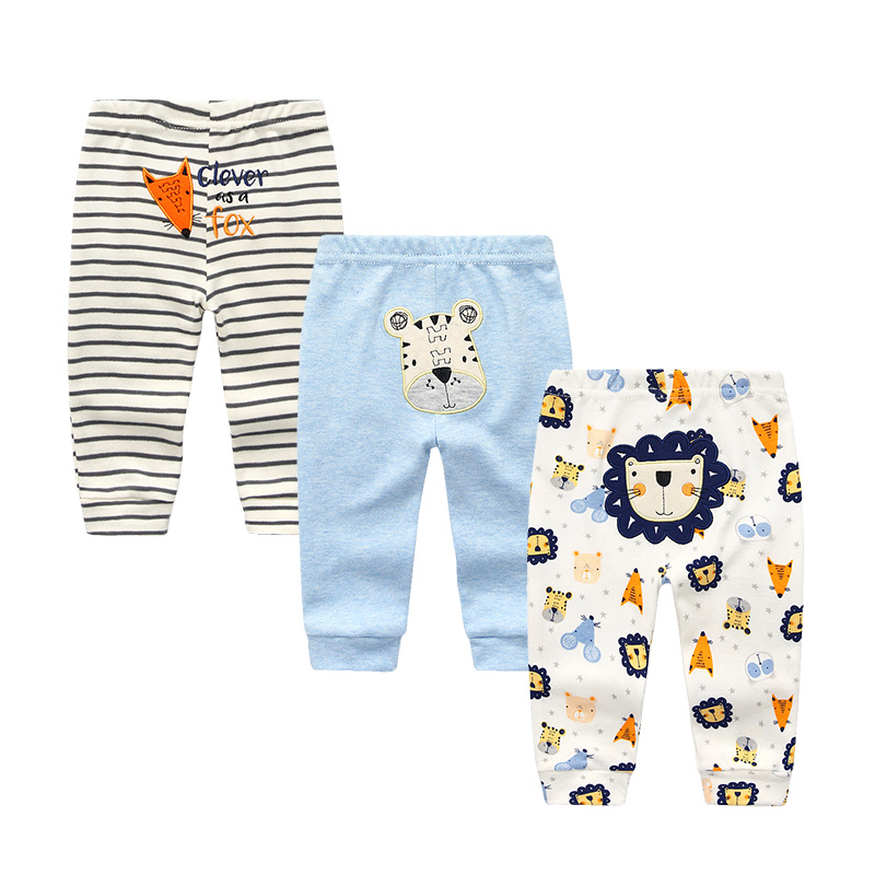 2018 New Arrival Baby Clothes Kids Trousers 6-24 Months 3pcs/Lot Cartoon Print Cotton Unisex Roupas De Bebe Infant Pants