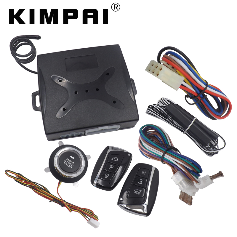 KIMPAI Car Remote Trunk Release Remote Engine Start Fit For Hyundai Auto Remote Keyless System Alarm Key Mold Window Up Output car alarm system keyless anti theft car system pke car alarm system smart remote control for toyota