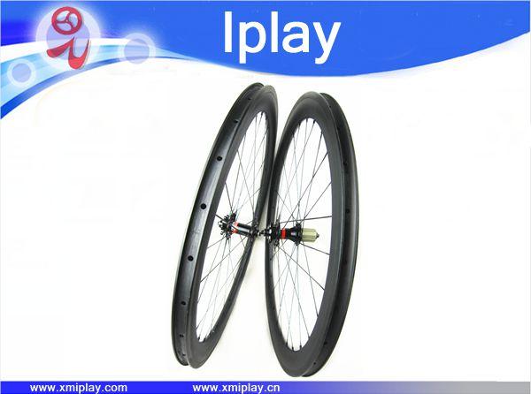 2017 IPLAY nouveau pneu roues 700C vélo racing roue carbone vélo de route 50mm jante carbone route roues avec Novatec 271/372 hubs