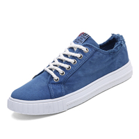 Summer Men Canvas Shoes Fashion Retro Artistic Youth Classic White Shoes Lace Up Casual Flats Shoes