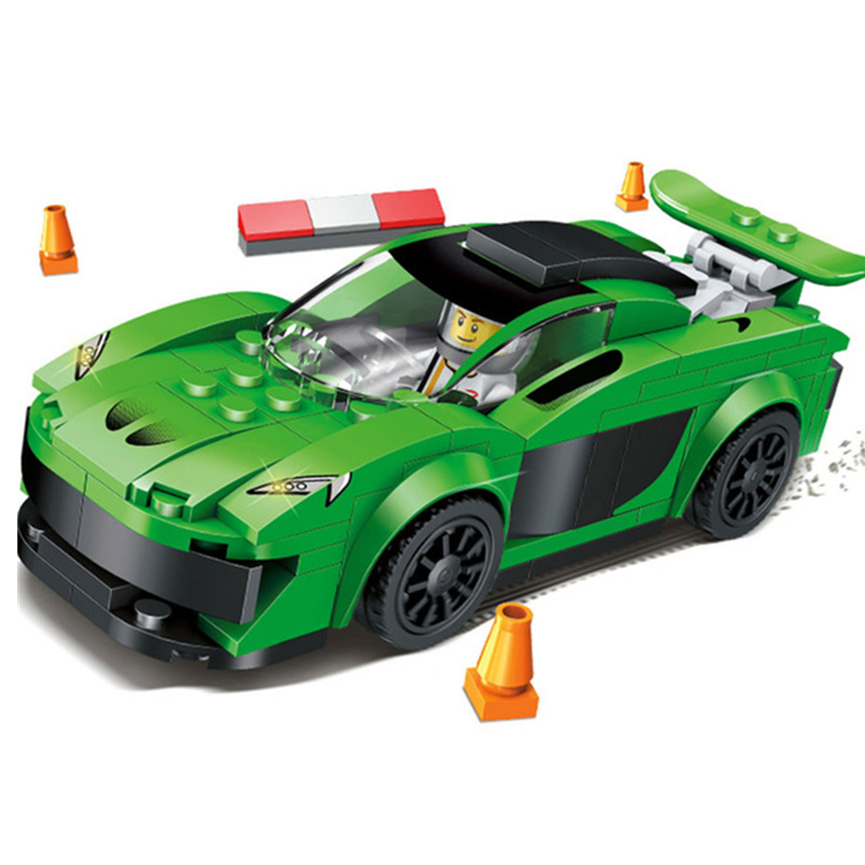 Racing Sports Car Building Blocks Model Toys Compatible Legos City Police Toys Educational Bricks Gift Toys For Children Friends 6727 city street police station car truck building blocks bricks educational toys for children gift christmas legoings 511pcs