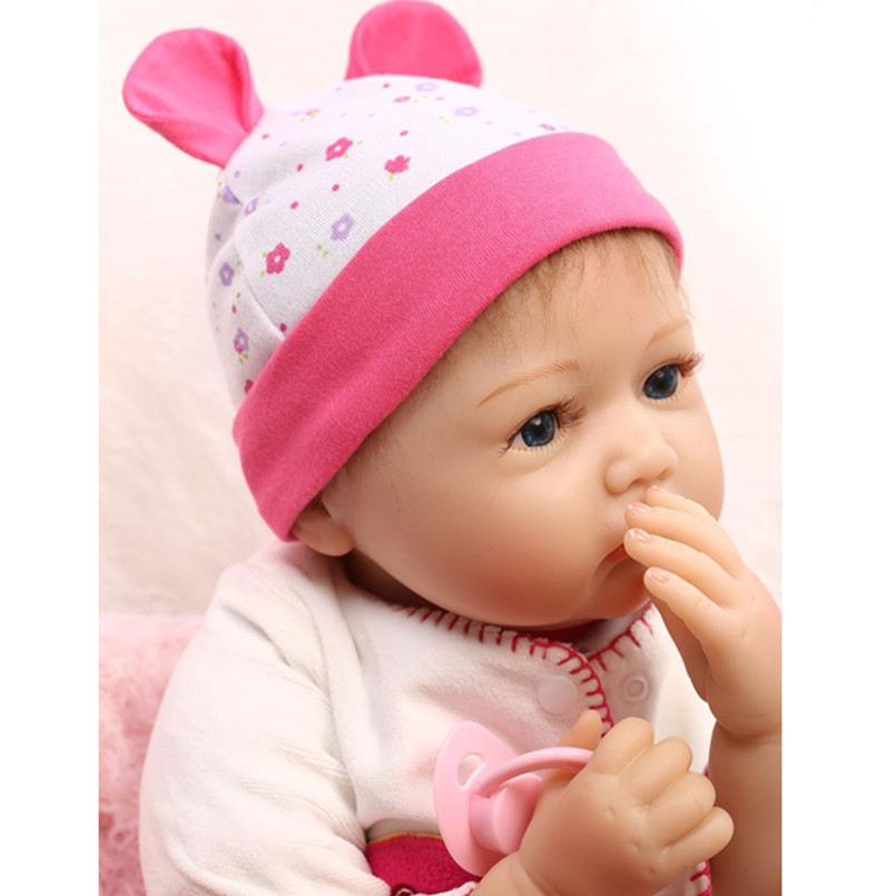 Real Reborn Babies Dolls Educational Toys for Girl Children's Gift,20 Inch Realistic Silicone Baby Dolls for Sale free shipping hot sale real silicon baby dolls 55cm 22inch npk brand lifelike lovely reborn dolls babies toys for children gift