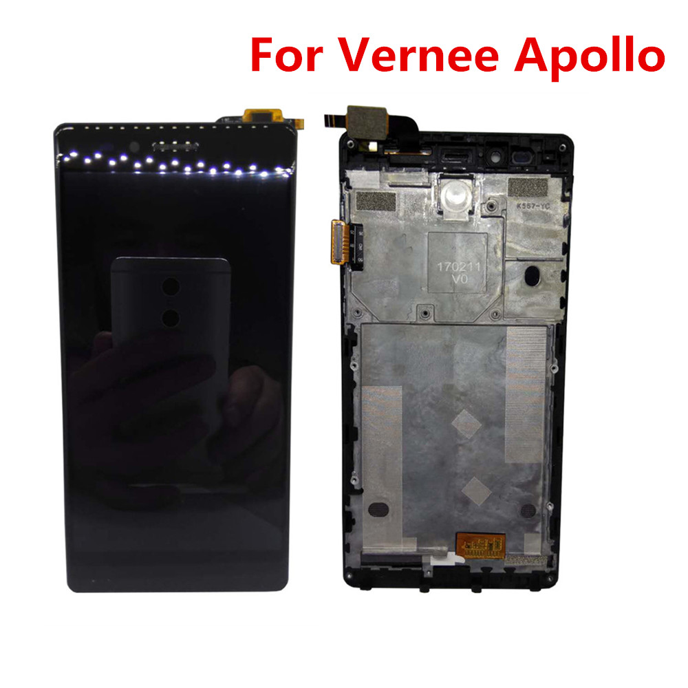 Tools Original Vernee Apollo 2560 1440 Smart Phone LCD Display Frame Touch Screen Digitizer Assembly 5