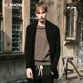 VIISHOW мужчины свитер Новый мужской Одежды свитер мода твердые мужская кардиган вязаный свитер Трикотаж Бренд мужской верхняя одежда ZC56961
