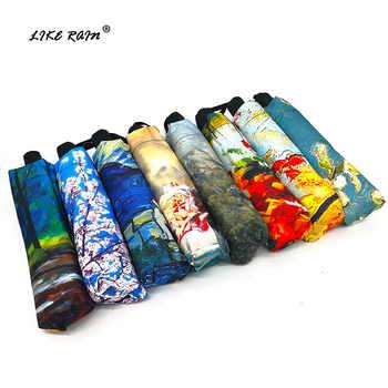 LIKE RAIN Creative Chinese Art Painting Umbrella Rain Women Fashion Female Folding Sun Parasol Kids Umbrella Corporation YHS09 - DISCOUNT ITEM  38% OFF All Category