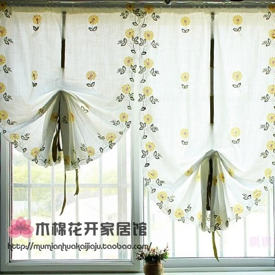 2014 Roman Style Flower Daisy Embroiered Tulles Sheer