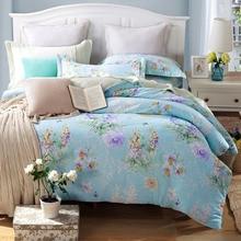 100% sarga de algodón ropa de cama conjunto 4 unids/set douillette lit enfant conjunto de cama juego de cama de algodón