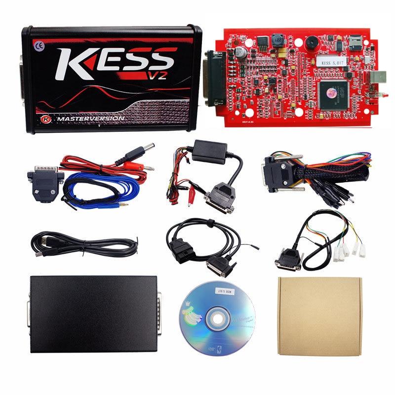 V2 47 Online EU Red KESS V2 5 017 Full Master OBD2 Manager Tuning KESS V5 V2.47 Online EU Red KESS V2 5.017 Full Master OBD2 Manager Tuning KESS V5.017 4 LED KTAG V7.020 BDM Frame K-TAG 7.020 ECU Chip