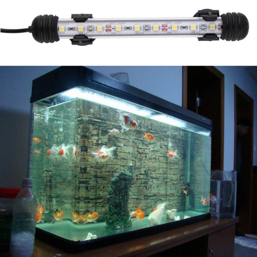 18cm Smd5050 8pcs Led White Aquarium Fish Tank Spot Light Ip68 Waterproof Underwater Submersible Us Eu Plug Light Bar & Switch45 Sophisticated Technologies Led Lighting