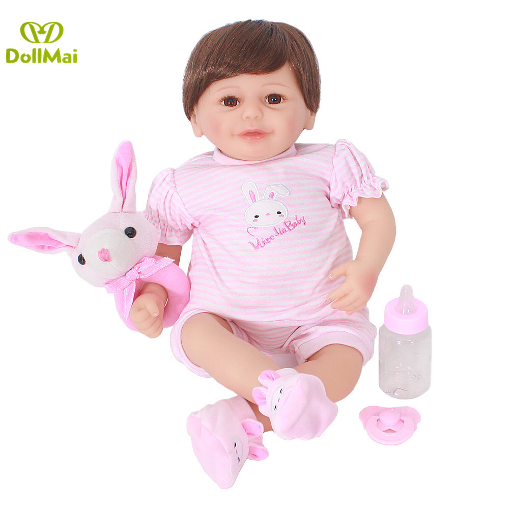 Reborn Girl bebe doll 2050cm BJD soft body silicone reborn baby dolls toys for child gift bonecas newborn bebe alive real dollReborn Girl bebe doll 2050cm BJD soft body silicone reborn baby dolls toys for child gift bonecas newborn bebe alive real doll