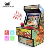 Данные лягушка ретро мини Аркада портативная игровая консоль 16 бит игровой плеер встроенный 156 классические игры для детей подарочная игру...