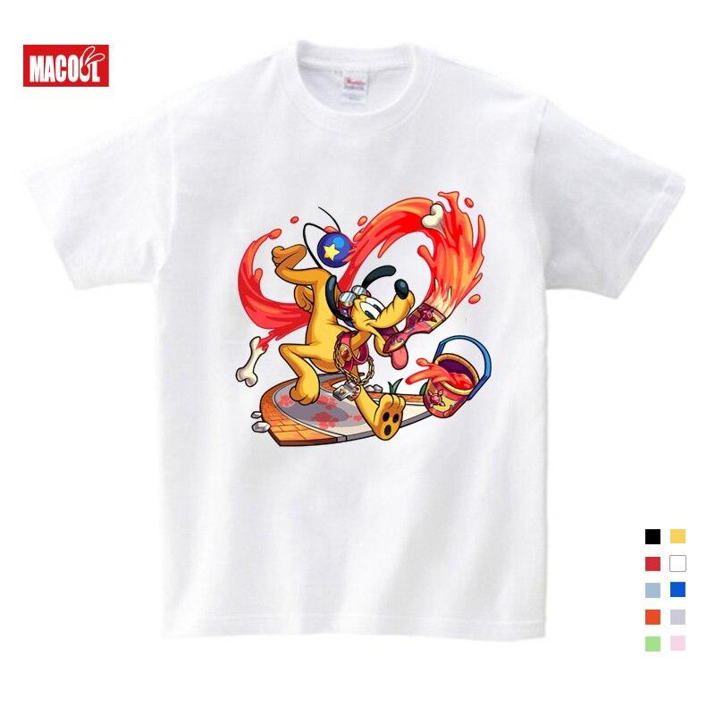 Children 39 s Interest Mickey Printed T shirt Boys Girls Mickey Mouse Short sleeved Summer Leisure T shirt Animated Mickey Shirt in T Shirts from Mother amp Kids