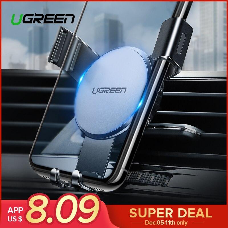 Ugreen sostenedor del teléfono del coche para iPhone 7X8 gravedad soporte de montaje de ventilación de aire para teléfono de teléfono móvil de coche soporte para Samsung S9