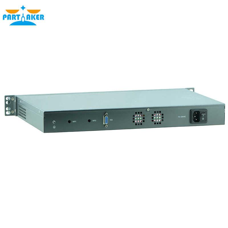 1U Rack Firewall Router Network Server  Intel Atom D525  1.8G Support ROS Mikrotik PFSense F4 4G RAM 32G SSD