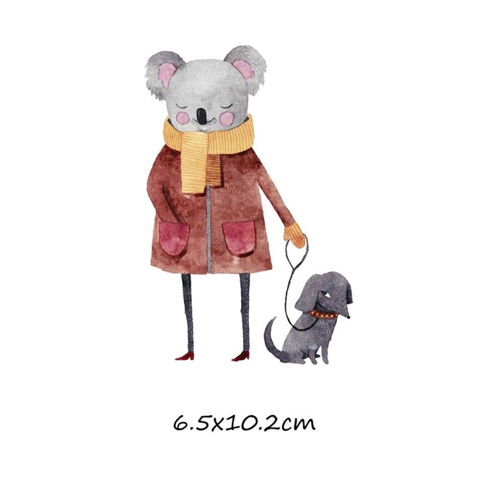 Милый мультфильм животных Комбинации гладить на патч ручной работы термоприклеивание, наклейки для Костюмы значки аппликаций для украшения из ткани