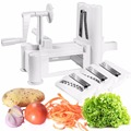 Goplus Tri-blade Plastic Spiral Vegetable Slicer Spiralizer Cutter Kitchen New  KC38374