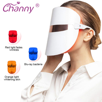 Channy Facial Phototherapy LED Mask Light Skin Care Rejuvenation Wrinkle Acne Removal Facial Care Beauty