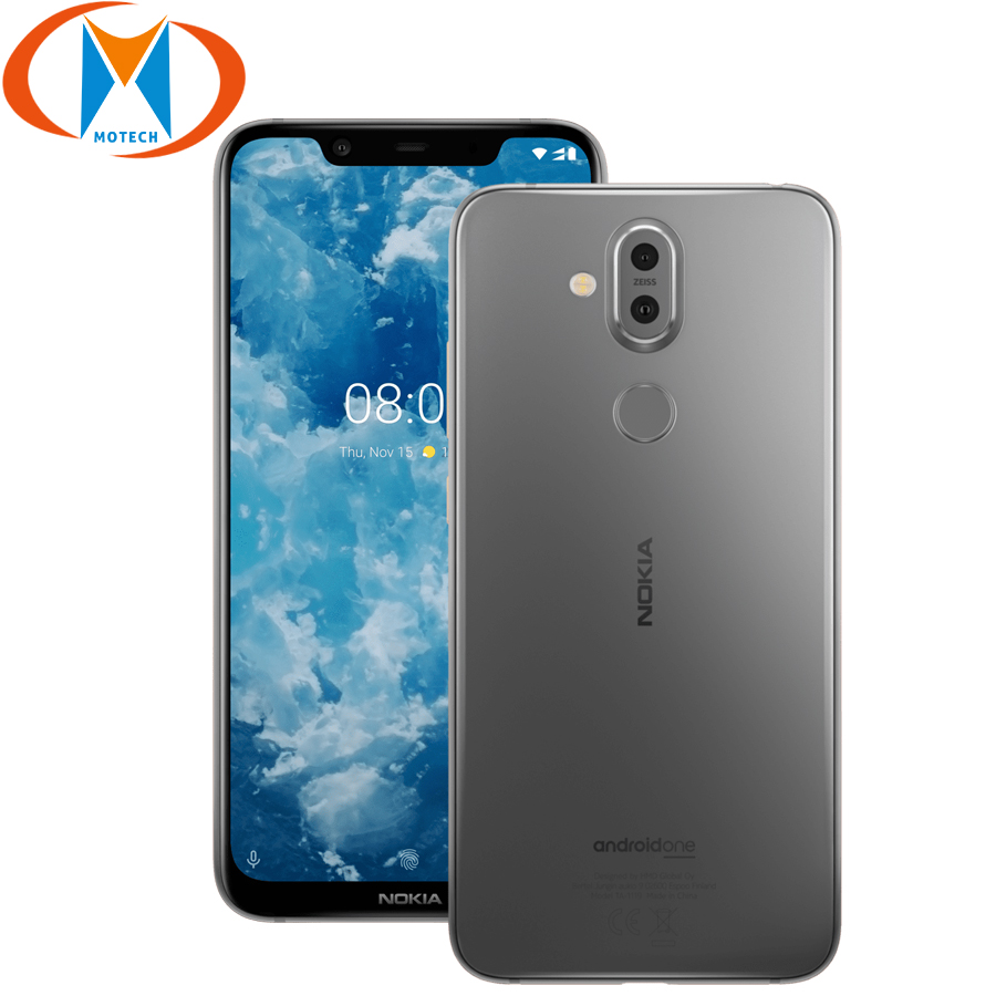 "Nokia 8.1 TA-1119 6.18"" Global Version Mobile Phone Snapdragon 710 Octa Core 4GB 64GB 20MP Camera Android 9.0 4G NFC Smartphone"