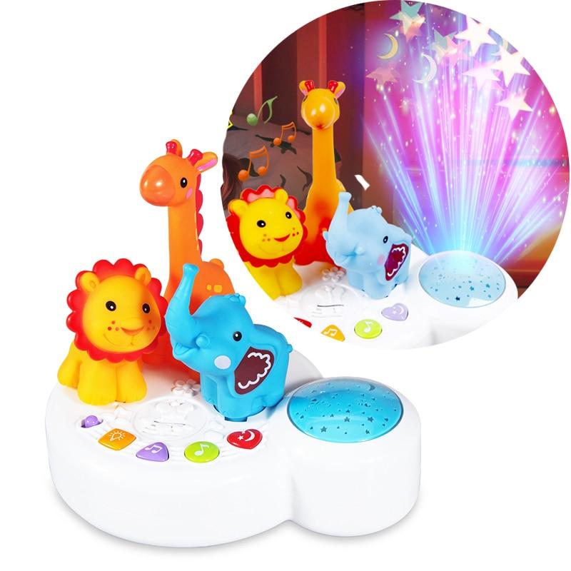 Baby Toys 0 12 13 24 Months Musical Projection Toys For Baby Brinquedos Para Bebe Oyuncak Bebek Giraffe Baby Boy Toys
