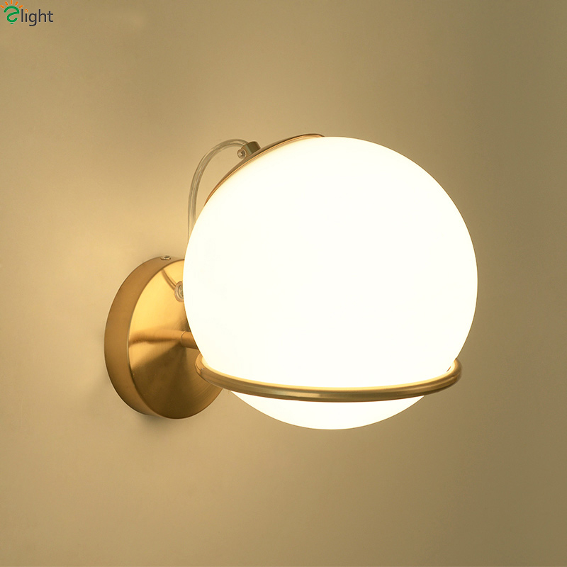 Nordic Glass Ball Led Wall Light Gold Metal Bedroom Led Wall Lights Corridor Led Wall Lamp Living Room Led Wall Sconce FixturesNordic Glass Ball Led Wall Light Gold Metal Bedroom Led Wall Lights Corridor Led Wall Lamp Living Room Led Wall Sconce Fixtures