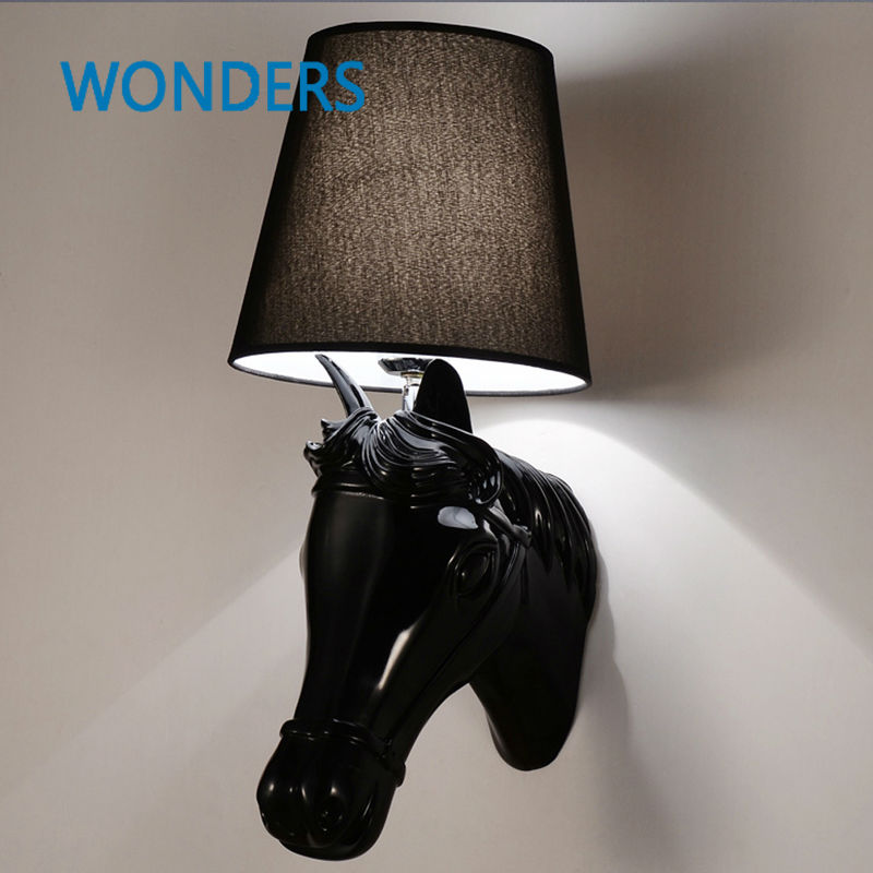 Horse Shape Resin Modern Wall Lamp LED Light For Home Lighting,Wall Sconce Arandela Lamparas De Pared concise style modern wall light lamp led for home lighting wall sconce arandela lamparas de pared