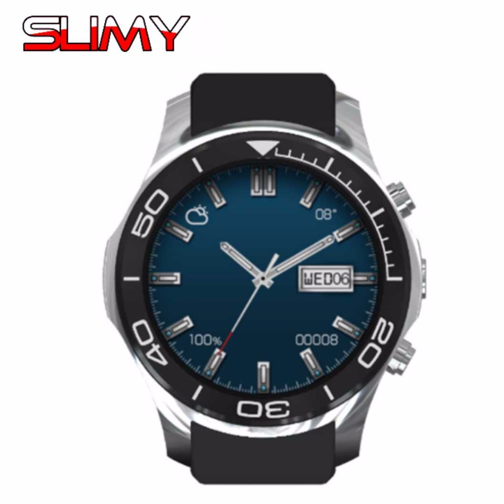 Slimy 3G Wifi Smart Watch MTK6580 Quad Core Watch Phone Android 5.1 3G Bluetooth Smartwatch for Android IOS Support Google Store simcom 5360 module 3g modem bulk sms sending and receiving simcom 3g module support imei change