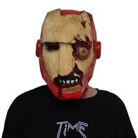 Deluxe Iron Man Mask Avengers Infinity War Zombie Hero Latex Helmet Cosplay Costume Halloween Props