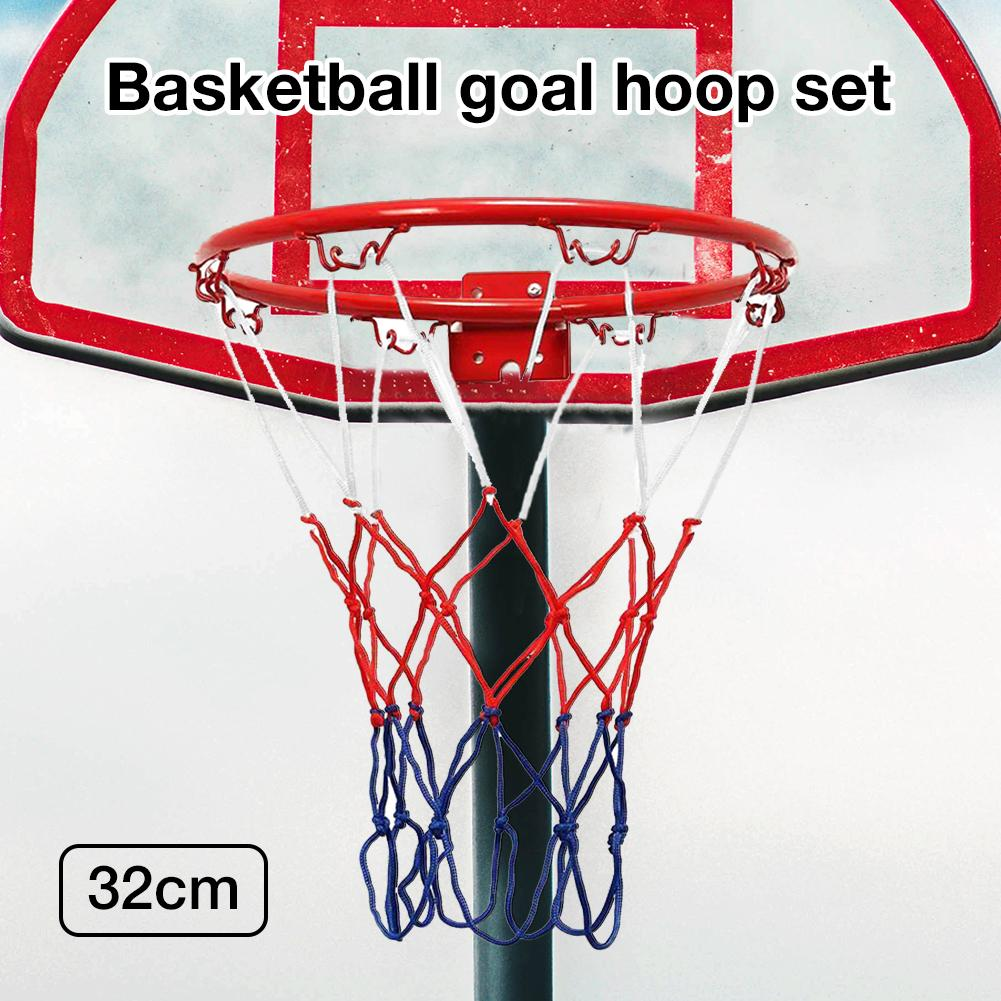 32cm//45cm Indoor//Outdoor Wall Mounted Hanging Goal Basketball Hoop Metal Hoop//