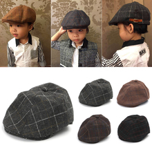 49c08120784 Buy peaked boys plaid caps and get free shipping on AliExpress.com