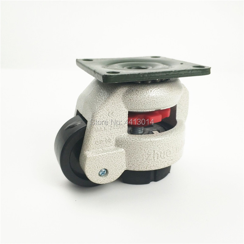 zhuomiao 4PCS CD-<font><b>60f</b></font> Heavy Duty Level Adjustment Nylon Industrial Casters image